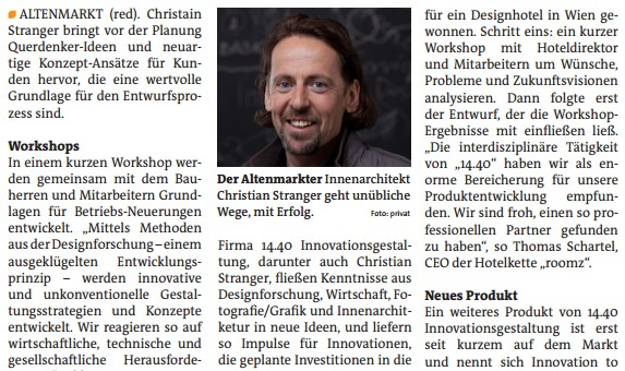 Innenarchitektur & Innovation