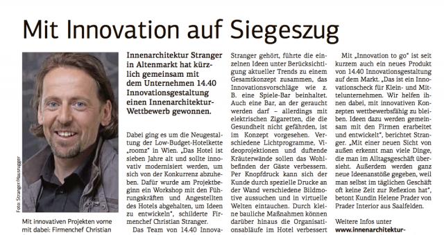 Mit Innovation auf Siegeszug
