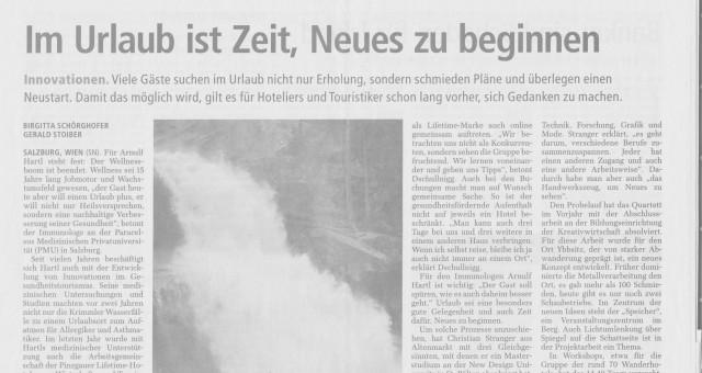 Im Urlaub ist Zeit, Neues zu beginnen – Salzburger Nachrichten Tourismus