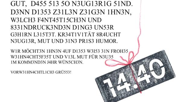 FÜNF JAHRE 14.40 Innovationsgestaltung